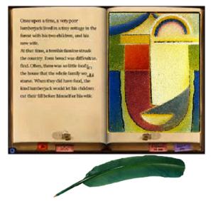 Bιβλίο -πράσινη εικόνα-φτερό